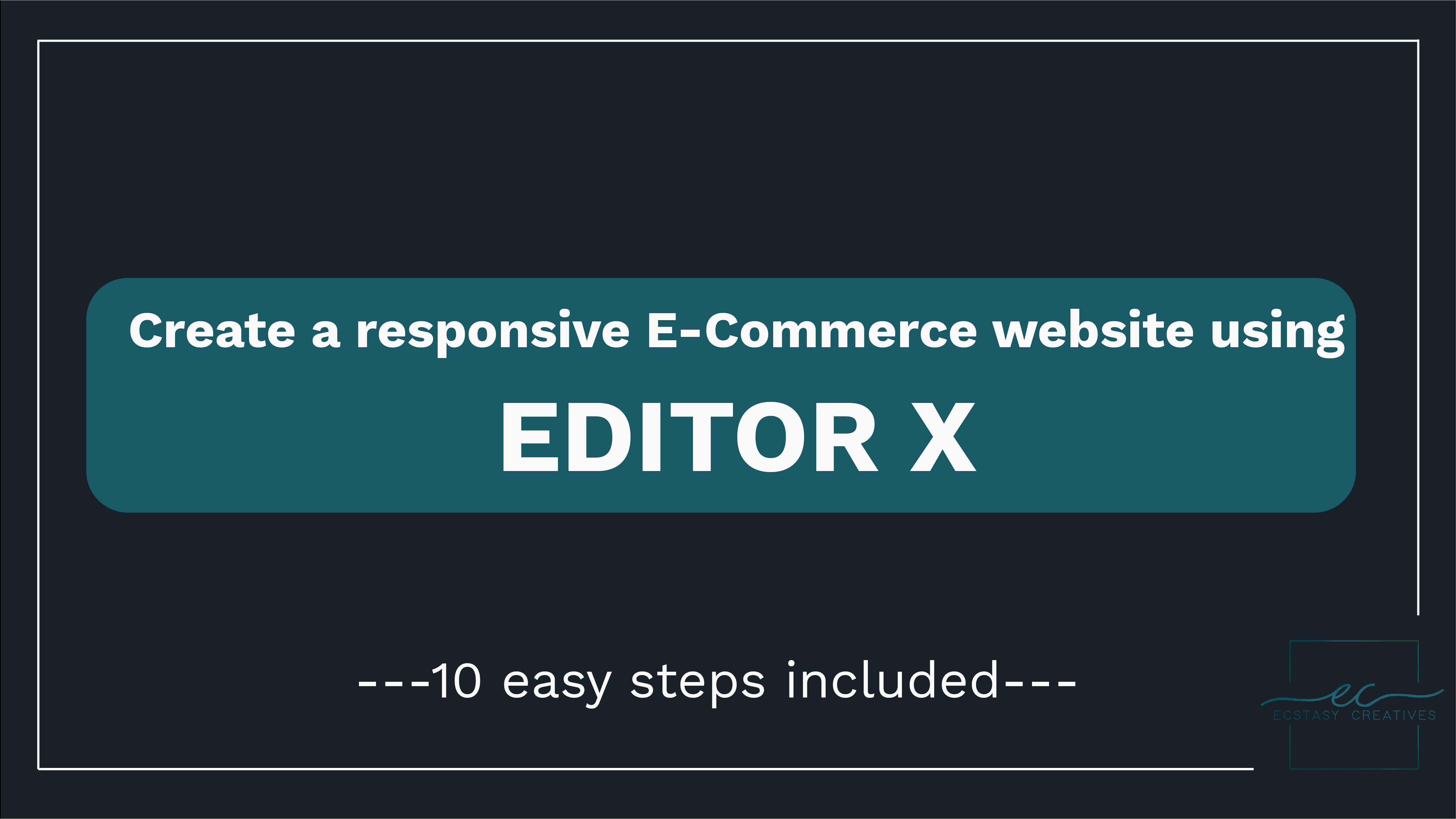 Create a responsive e-commerce website easily using editorX